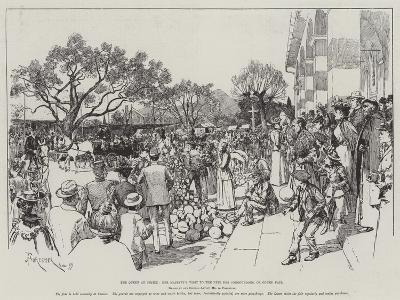The Queen at Cimiez, Her Majesty's Visit to the Fete Des Congourdons, or Gourd Fair-Amedee Forestier-Giclee Print