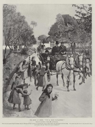 The Queen at Cimiez, Vive La Reine D'Angleterre!-Amedee Forestier-Giclee Print
