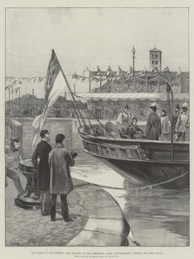 The Queen at Manchester, Her Majesty, in the Admiralty Yacht Enchantress, Opening the Ship Canal-William Heysham Overend-Giclee Print