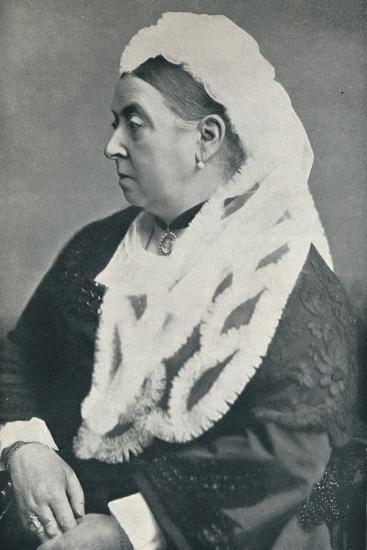 The Queen at the age of sixty six, c1885, (1901)-Alexander Bassano-Photographic Print