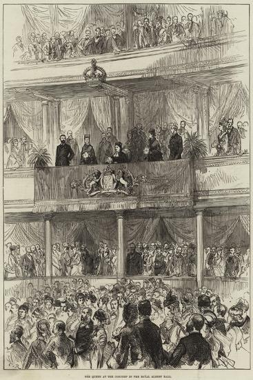 The Queen at the Concert in the Royal Albert Hall--Giclee Print