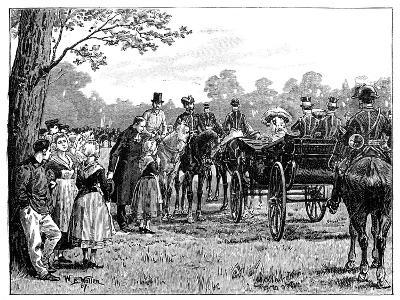 The Queen at the Fete in the Forest of St Germain, France, Mid-Late 19th Century-William Barnes Wollen-Giclee Print