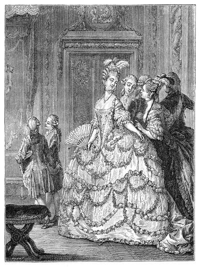 The Queen at the Palace- Moreau-Giclee Print
