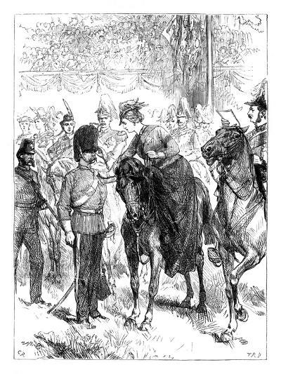 The Queen Distributing the Victoria Crosses in Hyde Park, London, C1850s--Giclee Print