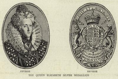 The Queen Elizabeth Silver Medallion--Giclee Print