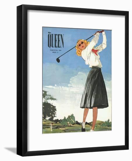 The Queen, Golf Womens Magazine, UK, 1940--Framed Giclee Print