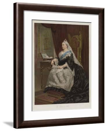 The Queen in 1887--Framed Giclee Print