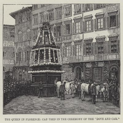 The Queen in Florence, Car Used in the Ceremony of the Dove and Car--Giclee Print