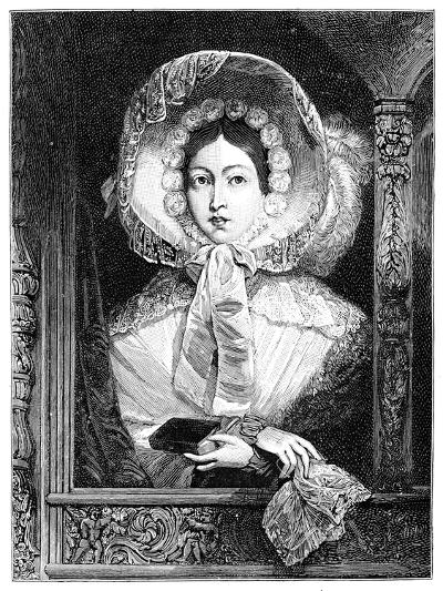 The Queen in the Royal Gallery, C1850S--Giclee Print