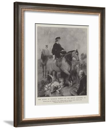 The Queen in Windsor Forest-Edwin Landseer-Framed Giclee Print