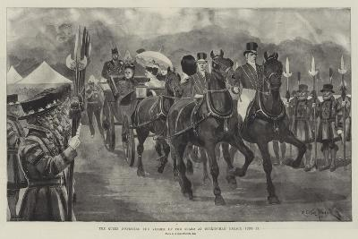 The Queen Inspecting the Yeomen of the Guard at Buckingham Palace, 23 June-Richard Caton Woodville II-Giclee Print