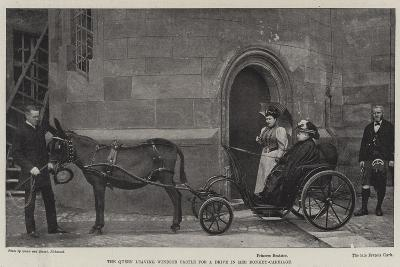 The Queen Leaving Windsor Castle for a Drive in Her Donkey-Carriage--Giclee Print