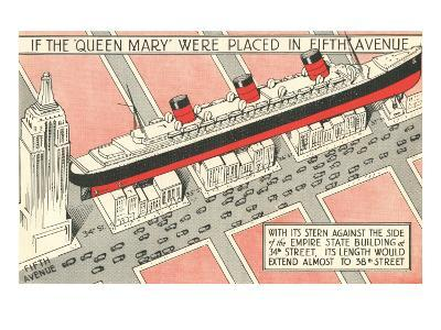 The Queen Mary on Fifth Avenue--Art Print