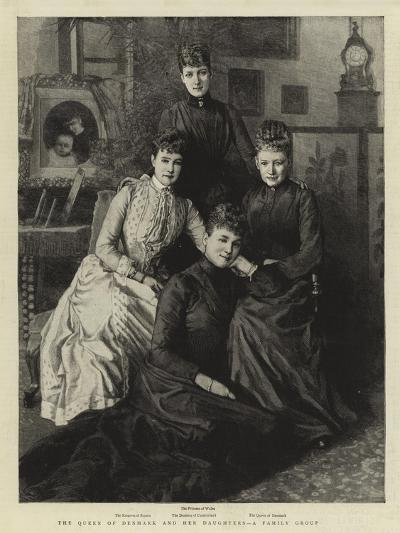 The Queen of Denmark and Her Daughters, a Family Group--Giclee Print