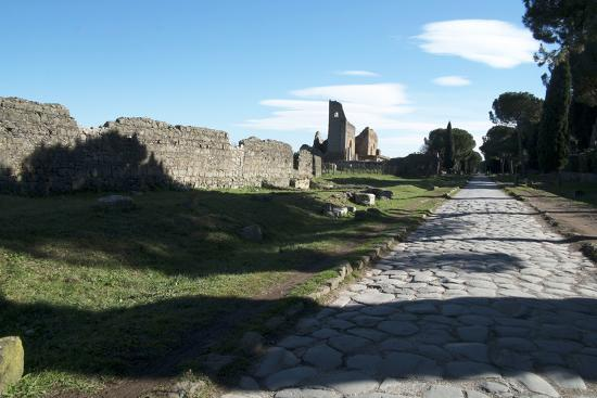 The Queen of Roads of the Old Roman Road System Was the Appian Way-Oliviero Olivieri-Photographic Print