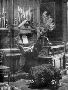 The Queen of Romania Playing the Organ, 1904
