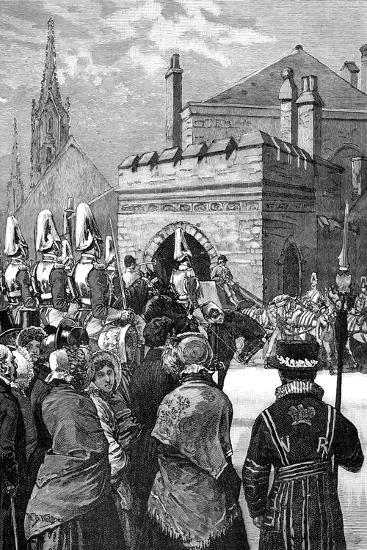 The Queen Opening Parliament, 1846--Giclee Print