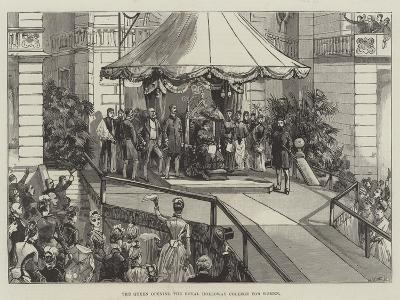 The Queen Opening the Royal Holloway College for Women--Giclee Print