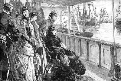 The Queen Reviewing the Fleet at Spithead, Hampshire, Late 19th Century--Giclee Print