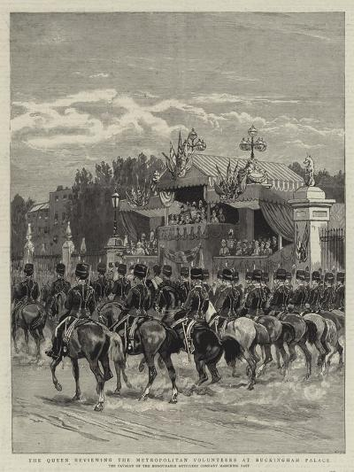 The Queen Reviewing the Metropolitan Volunteers at Buckingham Palace--Giclee Print