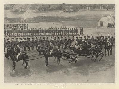 The Queen Reviewing the Yeomen of the Guard in the Garden at Buckingham Palace-Henry Marriott Paget-Giclee Print
