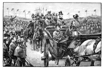 The Queen's Arrival in Peel Park Near Manchester, 1851--Giclee Print