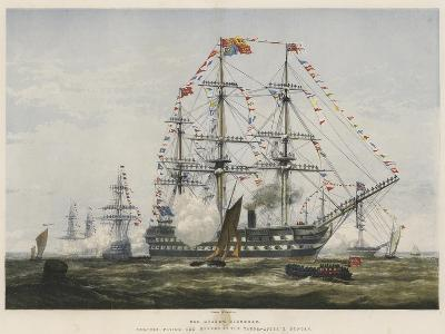 The Queen's Birthday, Colours Flying and Manned at the Yards-Edward Duncan-Giclee Print