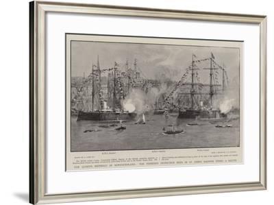 The Queen's Birthday in Newfoundland-Joseph Nash-Framed Giclee Print