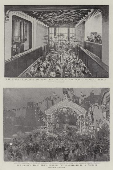 The Queen's Eightieth Birthday-Ernest Prater-Giclee Print