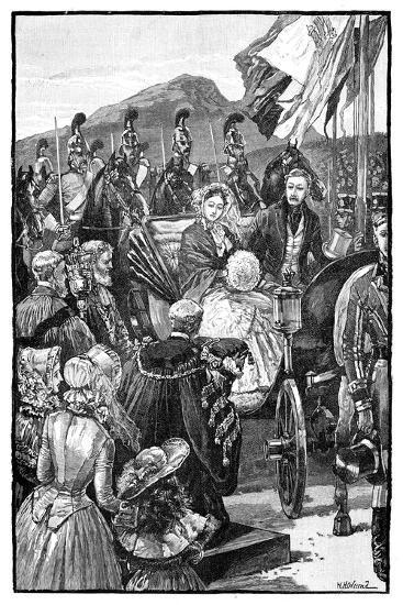 The Queen's Entry into Edinburgh, C1840S--Giclee Print