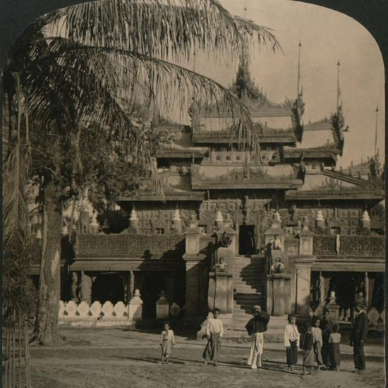 'The Queen's Golden Monastery, a gem of oriental architecture, Mandalay, Burma', 1907-Unknown-Photographic Print
