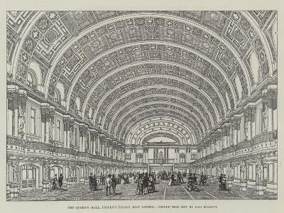 The Queen's Hall, People's Palace, East London, Opened This Day by Her Majesty--Giclee Print
