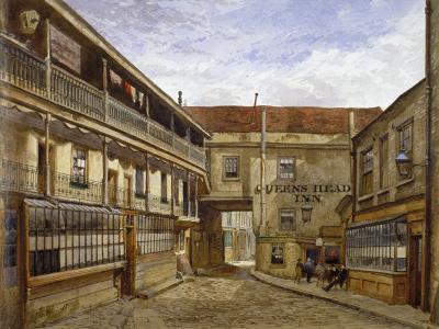 The Queen's Head Inn, Borough High Street, Southwark, London, 1880-John Crowther-Giclee Print