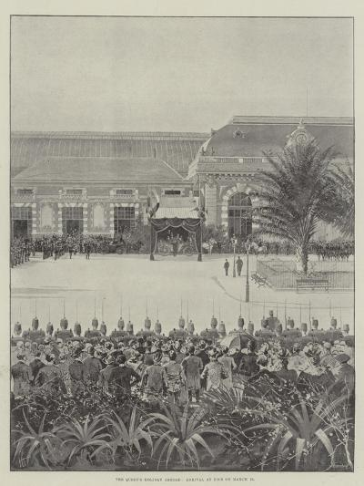 The Queen's Holiday Abroad, Arrival at Nice on 15 March-Joseph Holland Tringham-Giclee Print