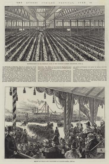 The Queen's Jubilee Festival, 21 June--Giclee Print