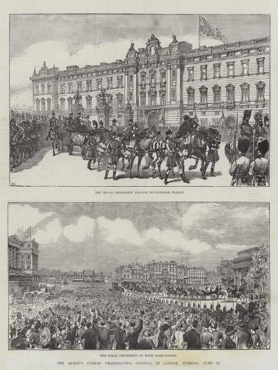The Queen's Jubilee Thanksgiving Festival in London, Tuesday, 21 June-Ernest Henry Griset-Giclee Print