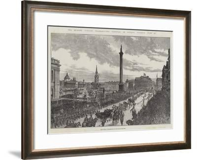 The Queen's Jubilee Thanksgiving Festival in London, Tuesday, 21 June--Framed Giclee Print