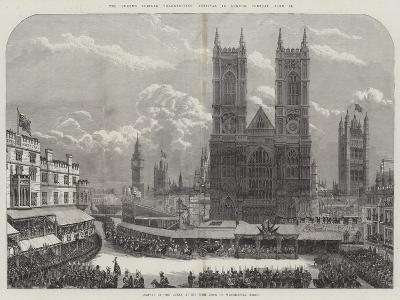 The Queen's Jubilee Thanksgiving Festival in London, Tuesday, 21 June--Giclee Print