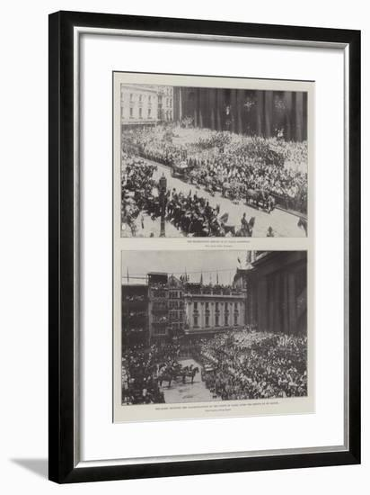 The Queen's Jubilee--Framed Giclee Print