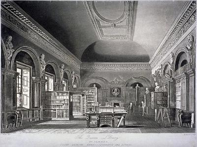 The Queen's Library in St James's Palace, Westminster, London, 1819-R Reeves-Giclee Print