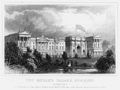 The Queen's Palace, Pimlico, London, C1840s--Giclee Print