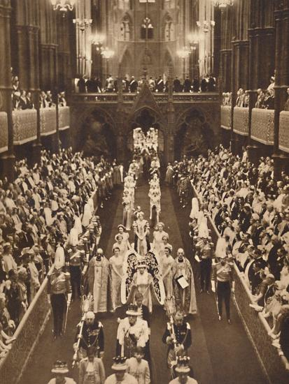 'The Queen's Procession', May 12 1937-Unknown-Photographic Print