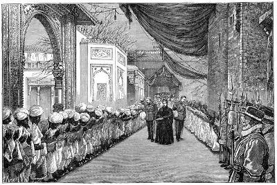 The Queen's Visit at the Opening of the Indian and Colonial Exhibition, London, 1886--Giclee Print