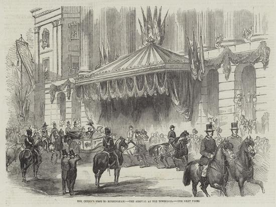 The Queen's Visit to Birmingham, the Arrival at the Townhall--Giclee Print