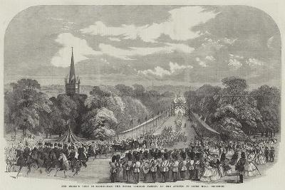 The Queen's Visit to Birmingham, the Royal Cortege Passing Up the Avenue to Aston Hall--Giclee Print