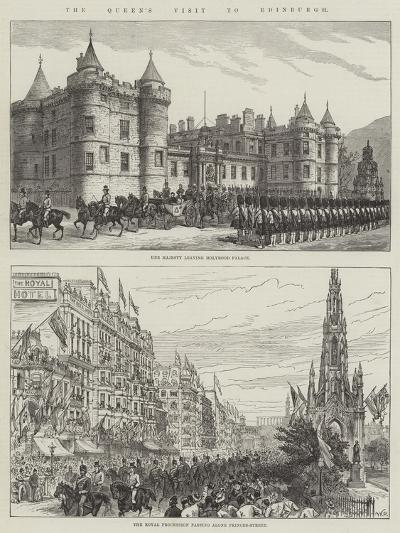 The Queen's Visit to Edinburgh--Giclee Print
