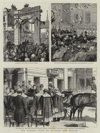 The Queen's Visit to Glasgow and Paisley-Godefroy Durand-Giclee Print