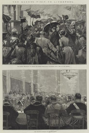 The Queen's Visit to Liverpool-William Heysham Overend-Giclee Print