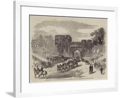 The Queen's Visit to North Wales, Her Majesty's Departure from Penrhyn Park on Monday Last--Framed Giclee Print