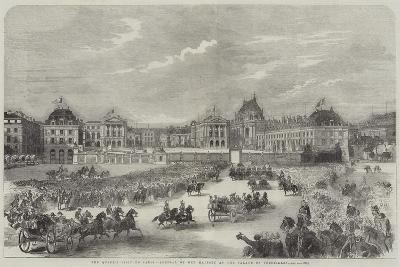 The Queen's Visit to Paris, Arrival of Her Majesty at the Palace of Versailles--Giclee Print
